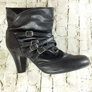 Xhilaration Faux Leather Vegan Slouchy Booties